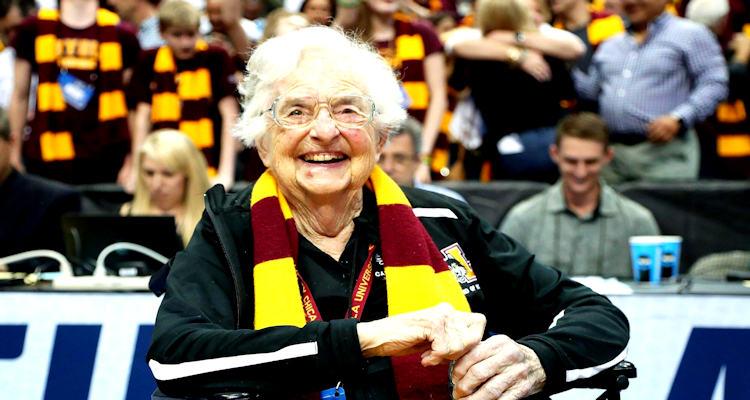 Sister Jean aged 101 years old